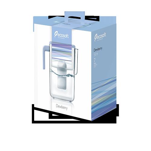 Фільтр-глечик Ecosoft Dewberry Slim 3,5 л 4