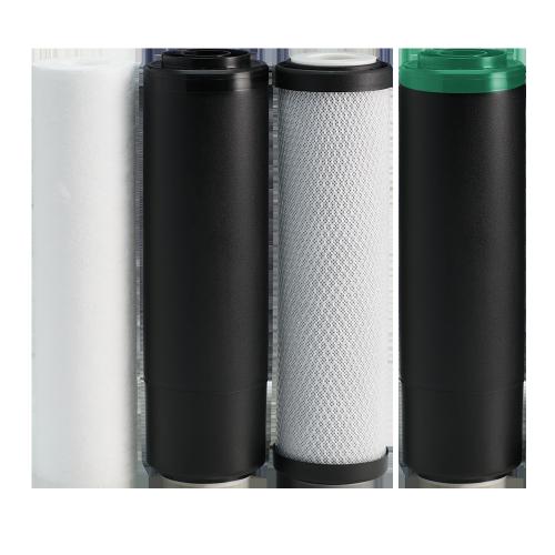Комплект картриджів 1-2-3-4 Ecosoft для фільтра RObust PRO